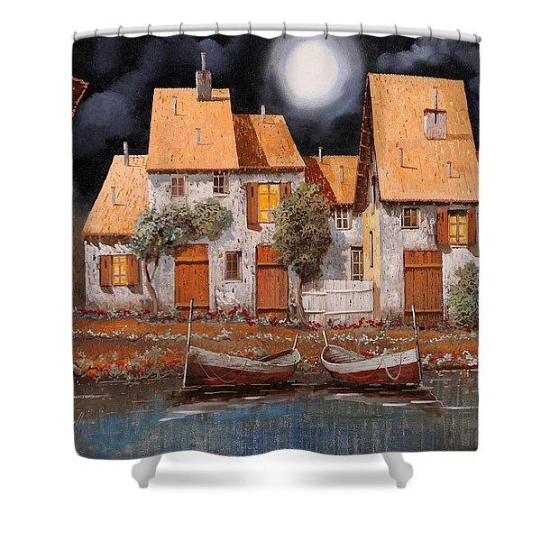 Notte Di Luna Piena Shower Curtain