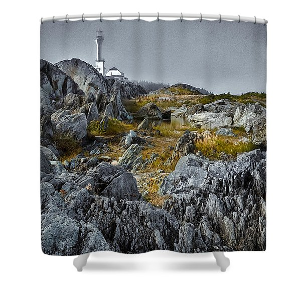 Nova Scotia's Rocky Shore Shower Curtain