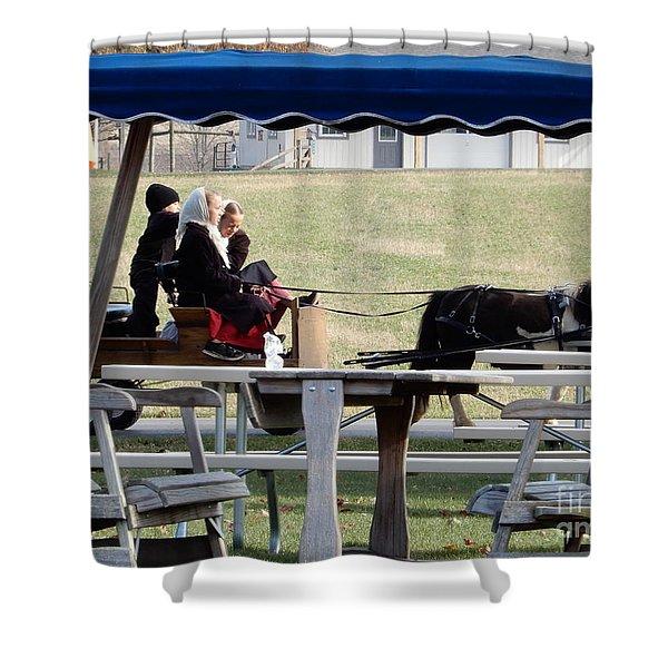 November Pony Cart Fun Shower Curtain