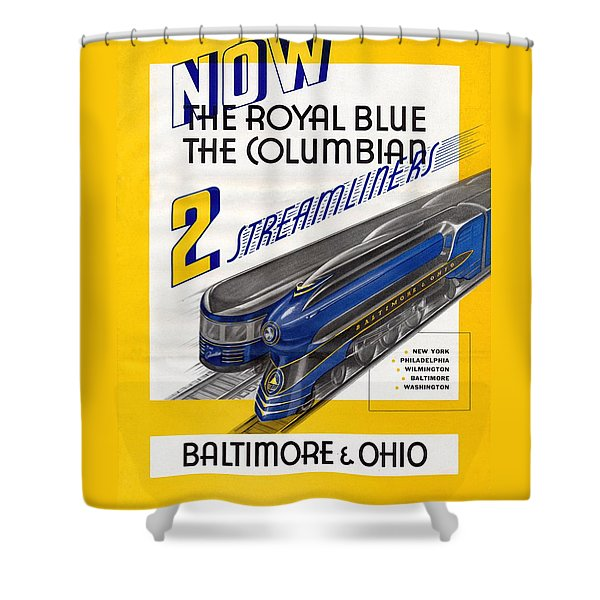 Now The Royal Blue The Columbian Shower Curtain