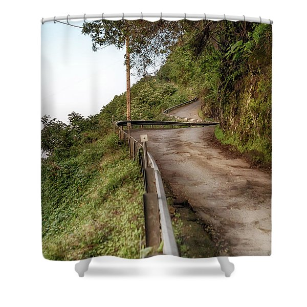 Nowhere But Up Shower Curtain