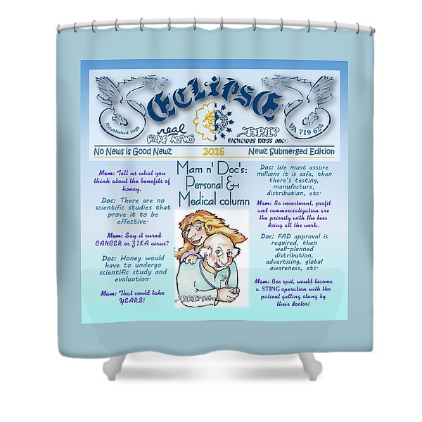 Real Fake News Personal Medical Column Shower Curtain