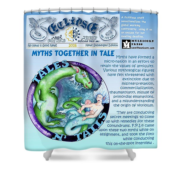 Real Fake News Excerpt Shower Curtain