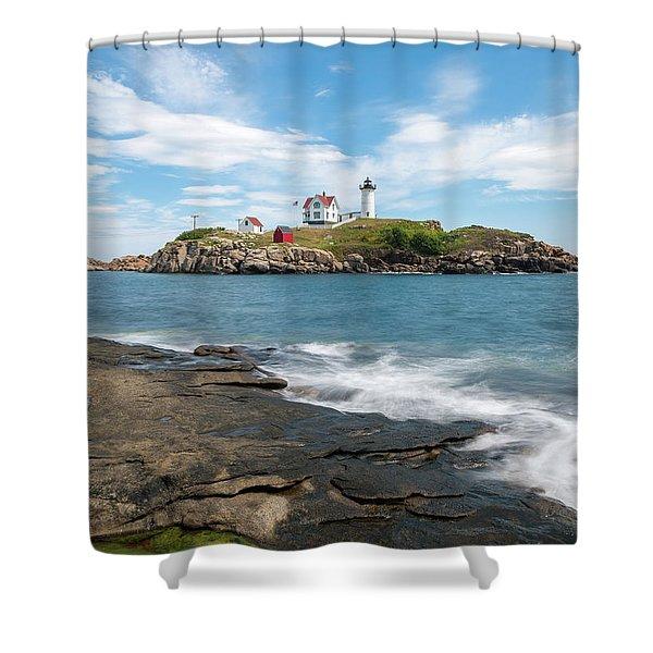Nubble Light IIi Shower Curtain