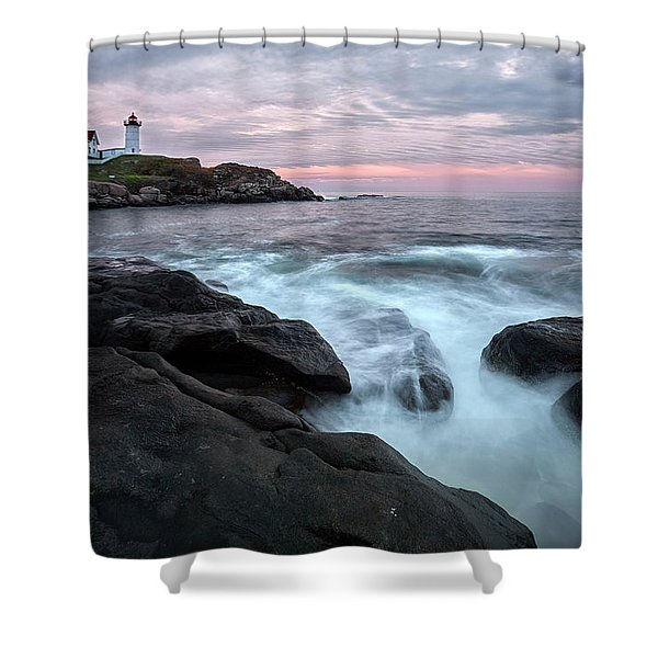 Nubble Lighthouse Of Maine Shower Curtain