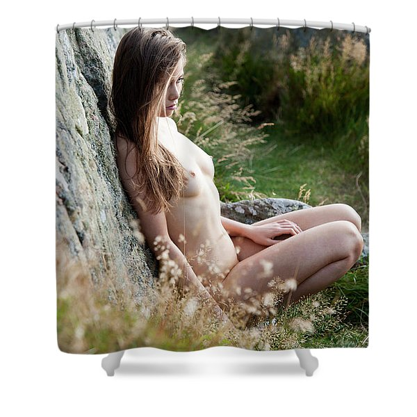 Nude Girl In The Nature Shower Curtain