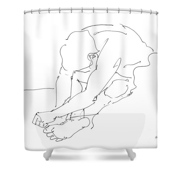 Nude Male Drawings 8 Shower Curtain