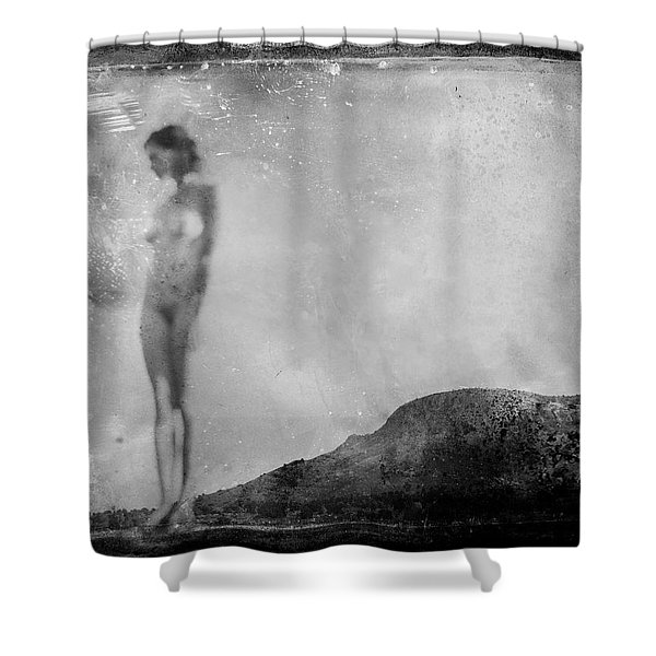 Nude On The Fence, Galisteo Shower Curtain