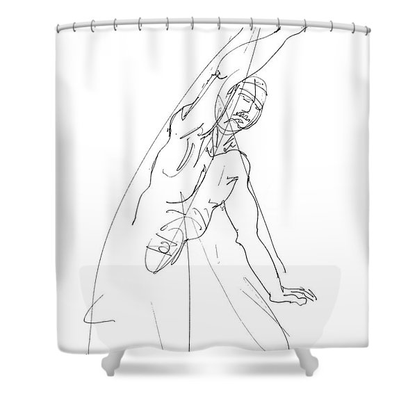 Nude_male_drawing_25 Shower Curtain