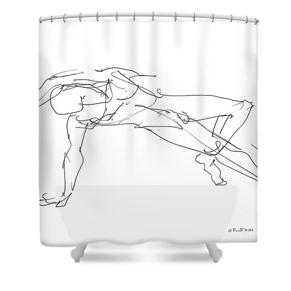 Nude_male_drawings_23 Shower Curtain