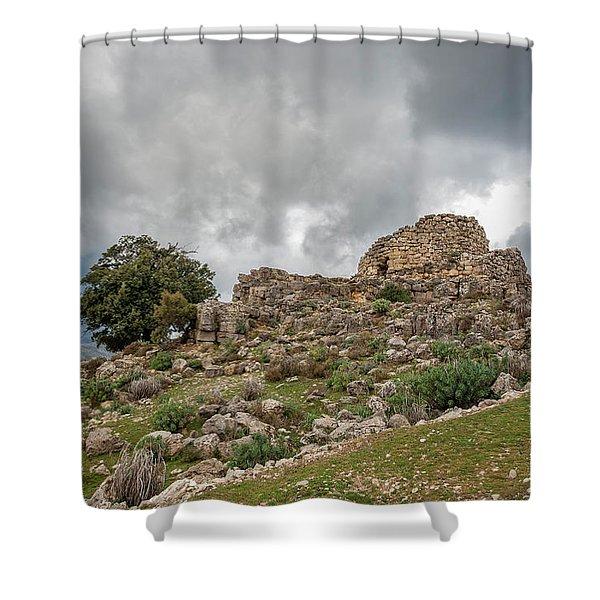 Nuraghe Ardasai  Shower Curtain