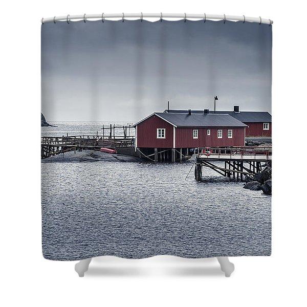 Nusfjord Rorbu Shower Curtain