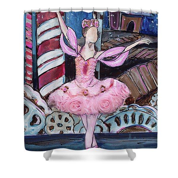 Nutcracker Sugar Plum Fairy Shower Curtain