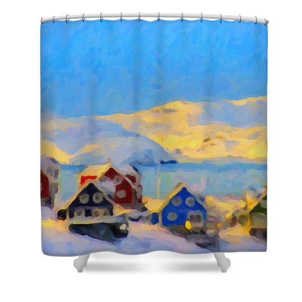 Nuuk, Greenland Shower Curtain