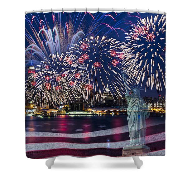 Nyc Fourth Of July Celebration Shower Curtain