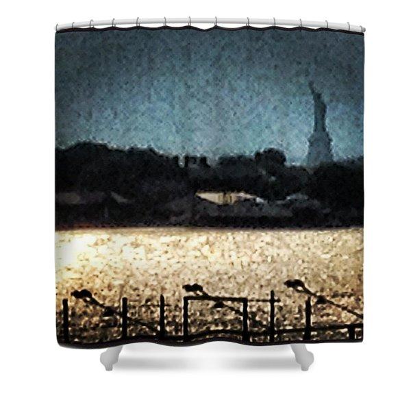 #nyc #newyork #ig #liberty #picoftheday Shower Curtain