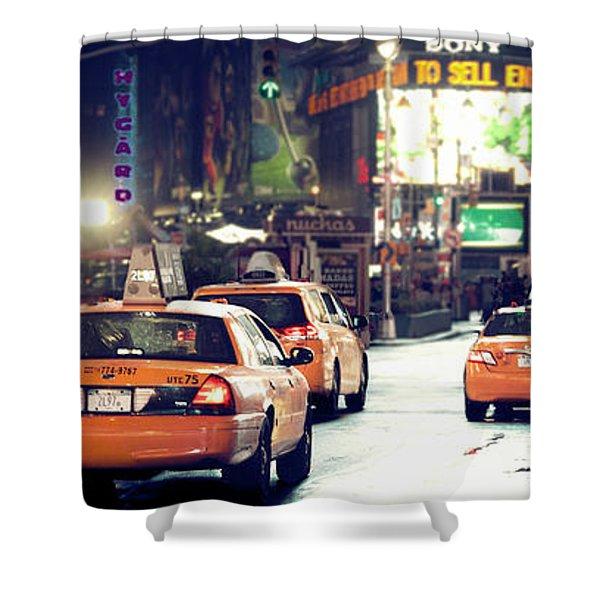 New York City Night Drive Shower Curtain