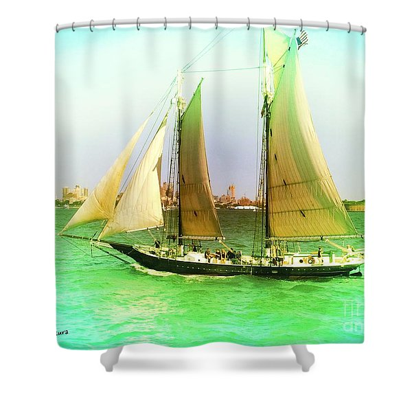 Nyc Sailing Shower Curtain