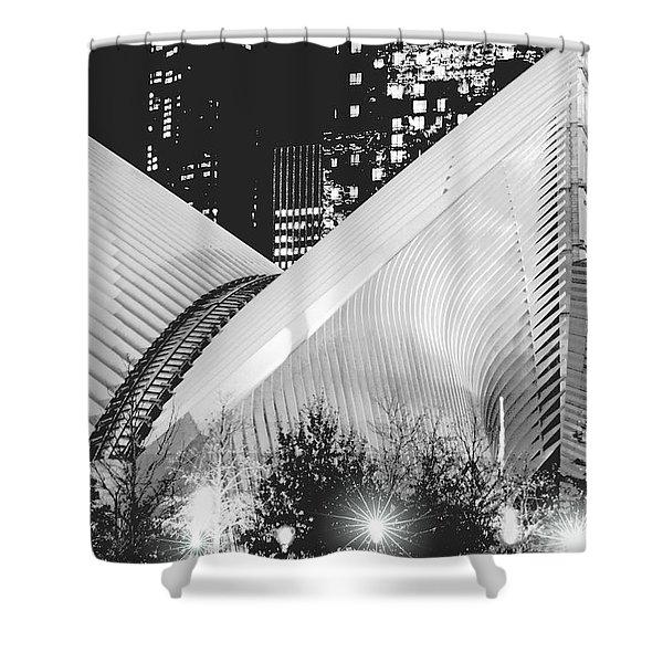 Nyc World Trade Transportation Hub Shower Curtain