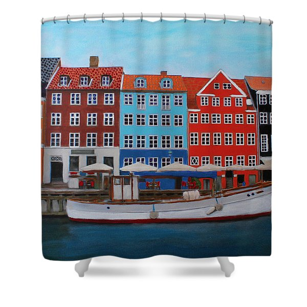 Nyhavn Copenhagen Shower Curtain