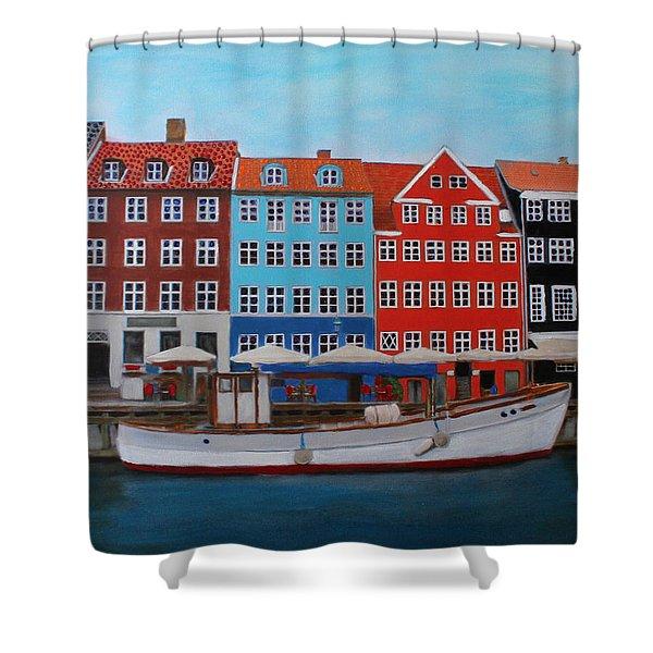 Nyhavn Copenhagen Shower Curtain