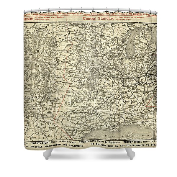 O And M Map Shower Curtain