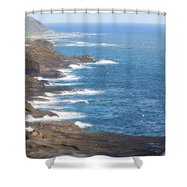 Oahu Coastline Shower Curtain
