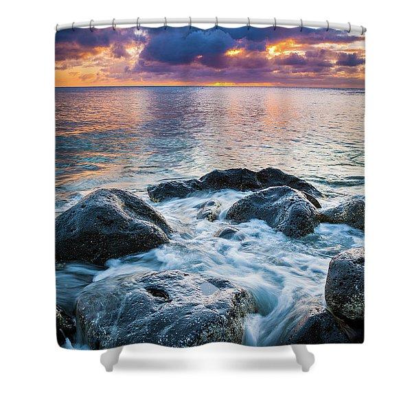 Oahu Shoreline Shower Curtain