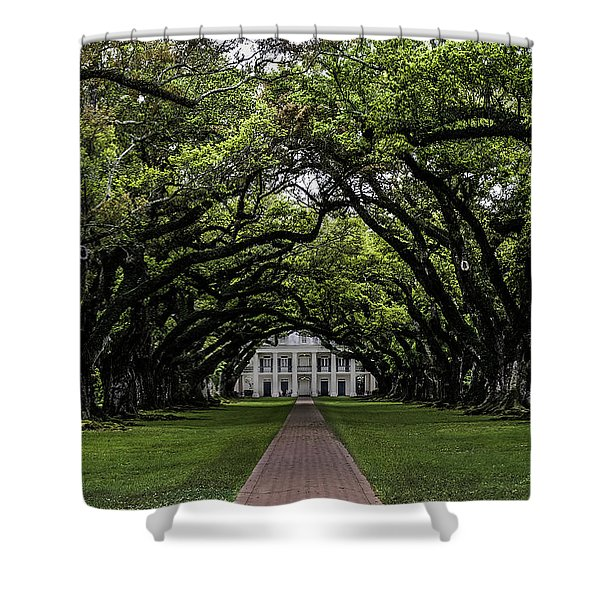 Oak Alley Plantation, Vacherie, Louisiana Shower Curtain