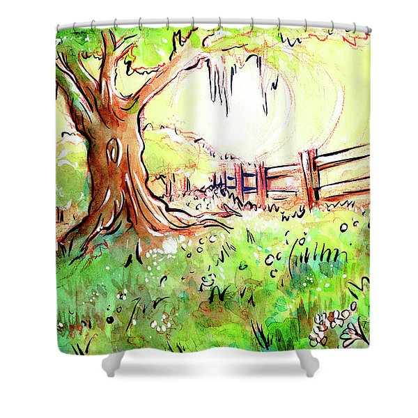 Oak Tree Hill Shower Curtain