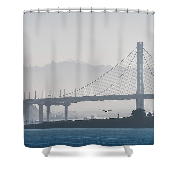Oakland Bay Bridge Shower Curtain
