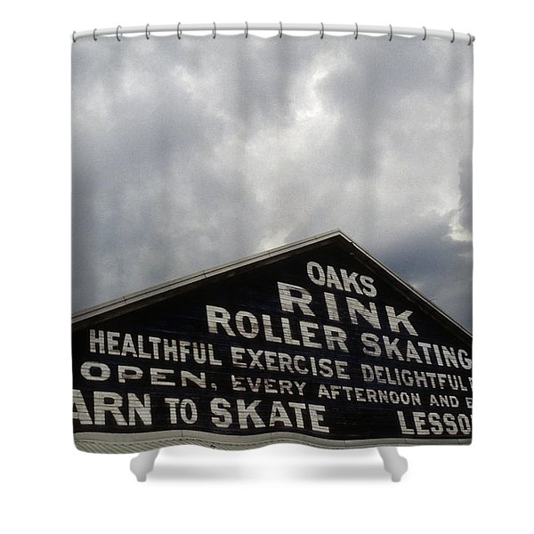 Oaks Skating Rink Shower Curtain