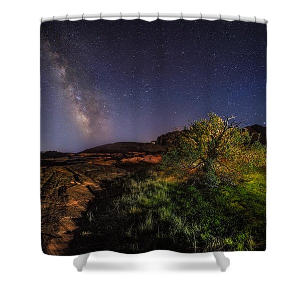 Oasis Milky Way Shower Curtain
