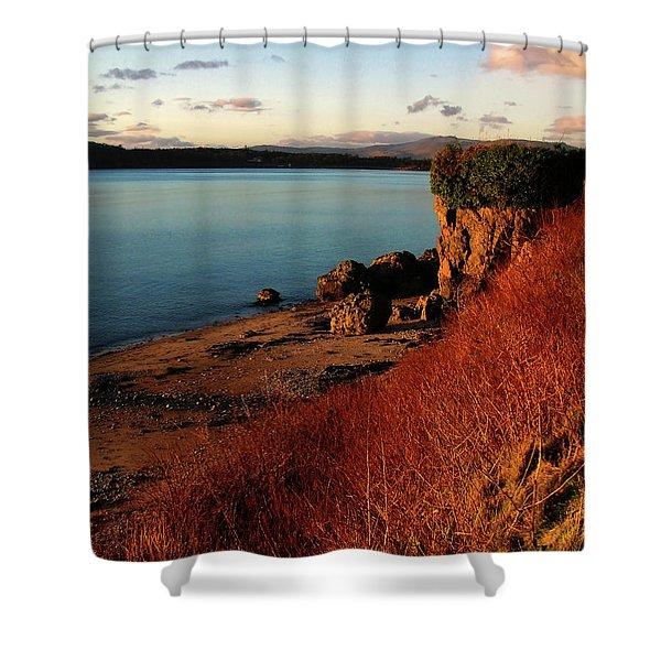 Oban Sunset Shower Curtain