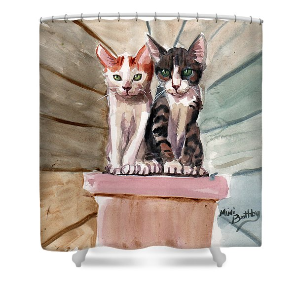 Obi And Lisa Two Kittens Shower Curtain