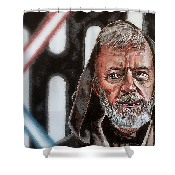 Obi-wan Kenobi's Last Stand Shower Curtain