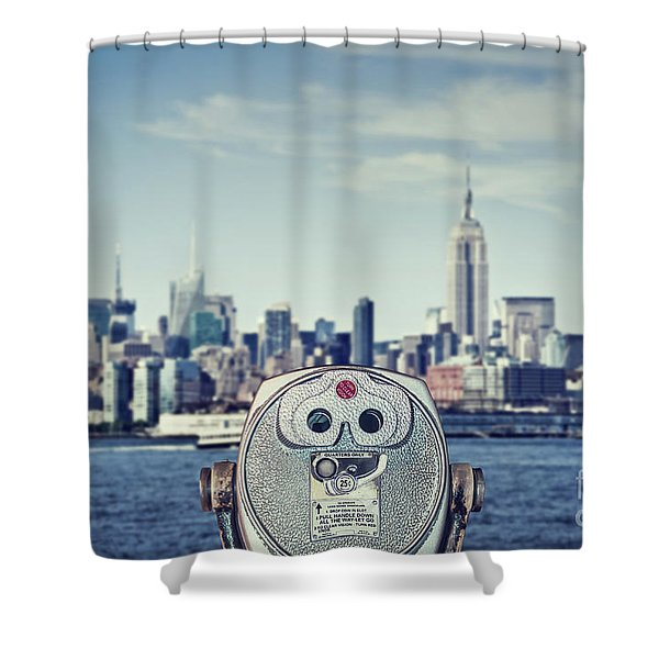 Observation Point Shower Curtain