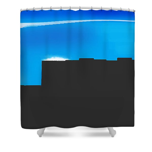 Obstructed View Shower Curtain