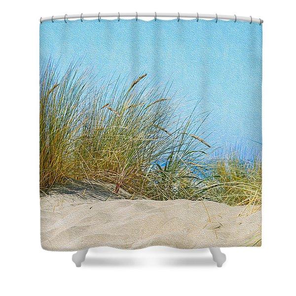Ocean Beach Dunes Shower Curtain