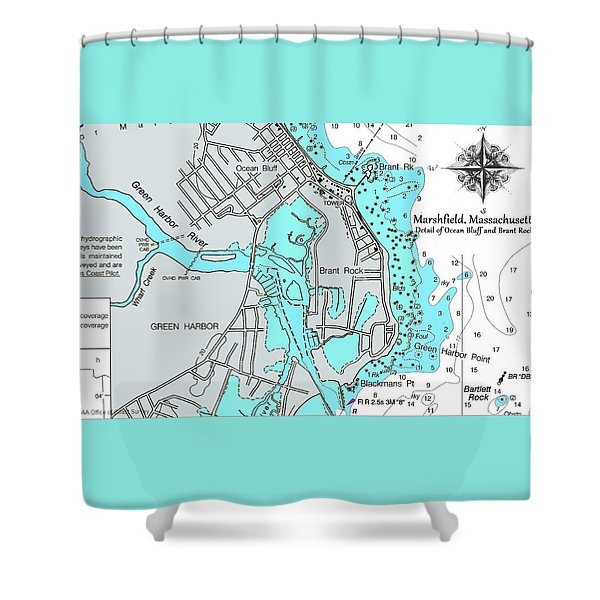 Ocean Bluff And Brant Rock Shower Curtain