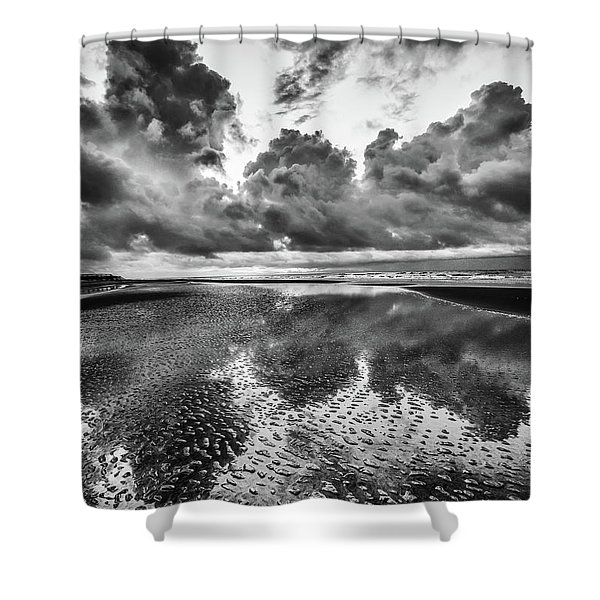 Ocean Clouds Reflection Shower Curtain