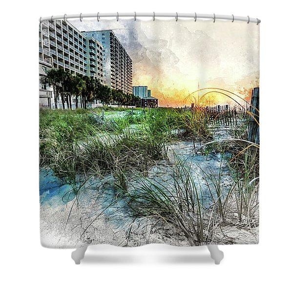 Ocean Drive Easter Sunrise Shower Curtain