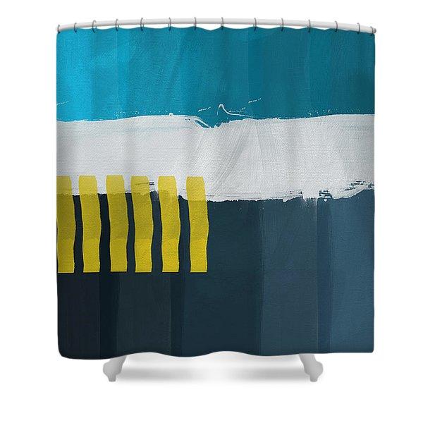 Ocean Front Walk 2- Art By Linda Woods Shower Curtain