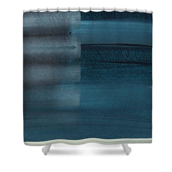 Ocean Front Walk 3- Art By Linda Woods Shower Curtain
