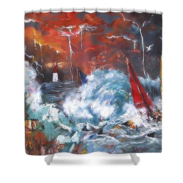 Ocean Fury Shower Curtain