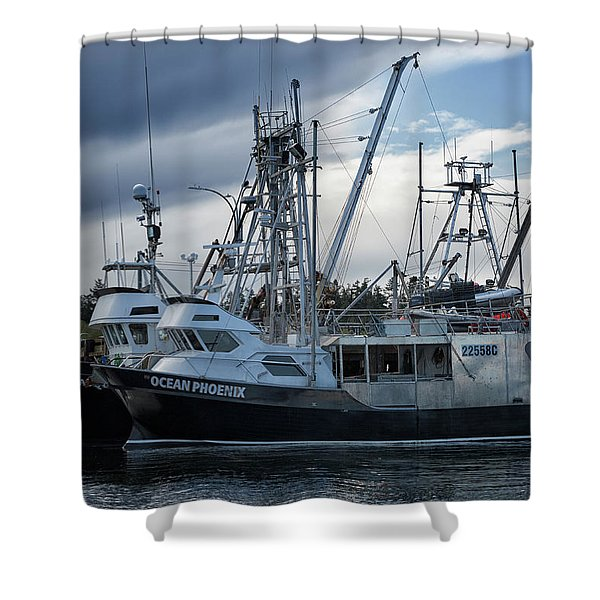 Ocean Phoenix Shower Curtain
