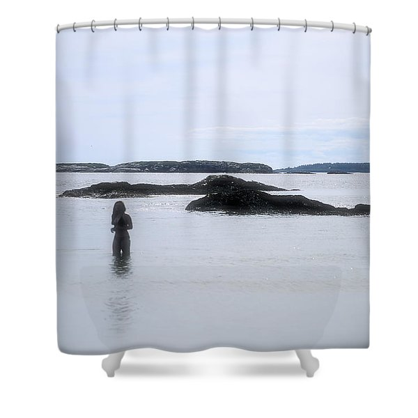 Ocean Solitude Shower Curtain