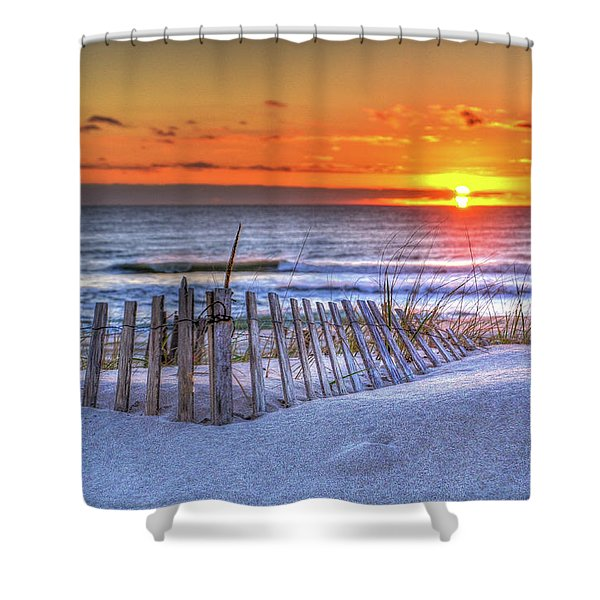 Ocean Sunrise From The Dunes Shower Curtain