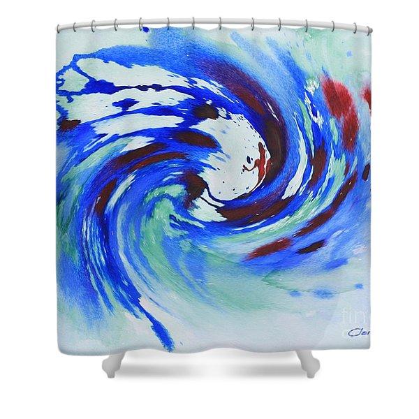 Ocean Wave Watercolor Shower Curtain
