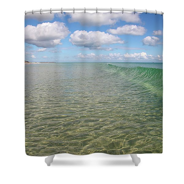 Ocean Waves And Clouds Rollin' By Shower Curtain